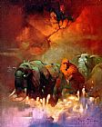Frank Frazetta Downward to the Earth painting
