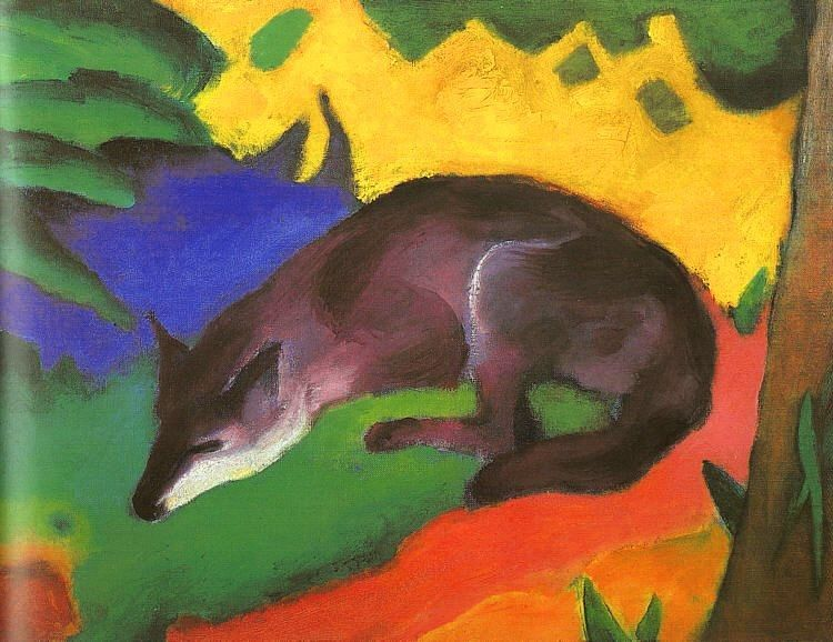 Franz Marc Blue Black Fox