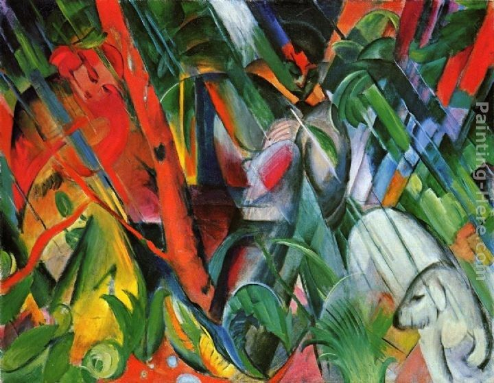 Franz Marc In The Rain