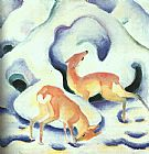 Franz Marc Deer in the Snow painting