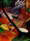 Franz Marc Deer in the Woods II painting