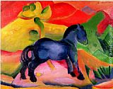 Franz Marc Little Blue Horse painting