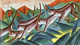 Franz Marc Monkey Frieze painting