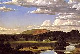 Frederic Edwin Church West Rock, New Haven painting