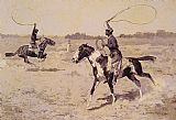Frederic Remington It was to be a lasso duel to the death painting