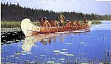 Frederic Remington Radisson and Groseilliers painting