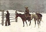 Frederic Remington The Fall of the Cowboy painting
