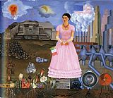 Frida Kahlo FridaKahlo-Self-Portrait-on-the-Border-Line-Between-Mexico-and-the-United-States-1932 painting