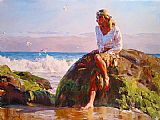 Garmash GAZING AT THE WAVES painting