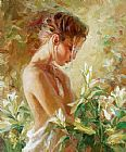 Garmash Lost in Lilies painting