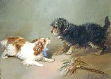 George Armfield King Charles Spaniel & Terrier painting