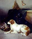 George Armfield Spaniels with the Day's Bag painting