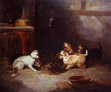 George Armfield Terriers Ratting painting