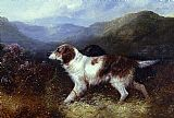 George Armfield Two Setters in a Landscape painting