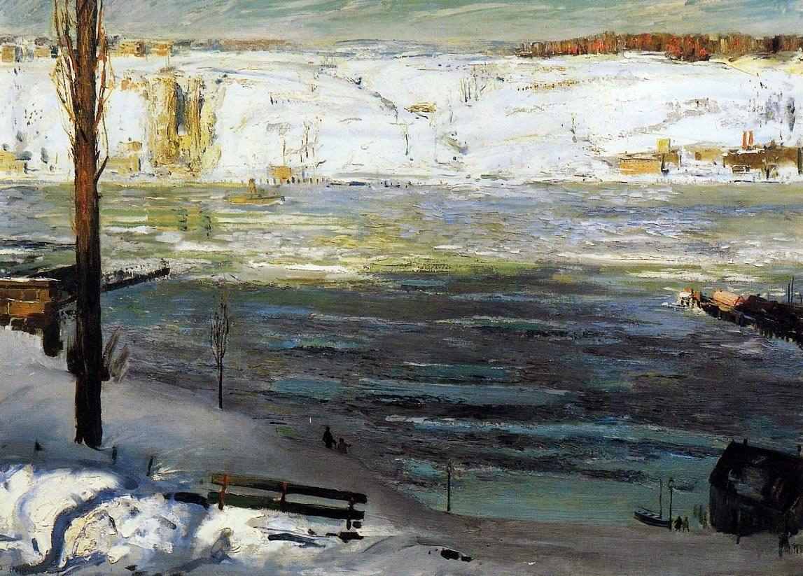 George Bellows Floating Ice