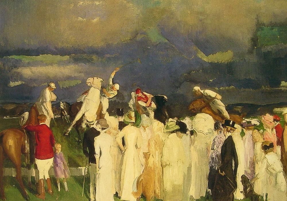 George Bellows Polo Crowd