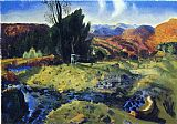 George Bellows Autumn Brook painting