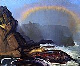 George Bellows Fog Rainbow painting