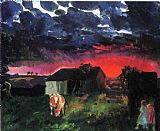 George Bellows Red Sun painting
