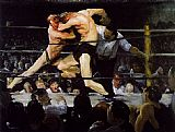 George Bellows Stag at Sharkey's painting