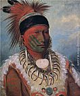 above the clouds Paintings - White Cloud, Chief of the Iowas