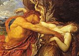 George Frederick Watts Orpheus and Eurydice detail painting