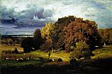 George Inness Autumn Oaks painting