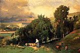 George Inness Hillside at Etretet painting