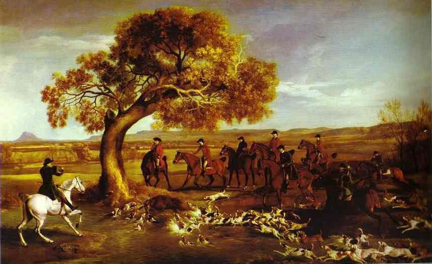 George Stubbs The Grosvenor Hunt