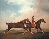 Horse Racing paintings - William Anderson with Two Saddle-horses by George Stubbs