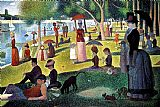 Garden paintings - Sunday Afternoon on the Island of la Grande Jatte by Georges Seurat