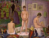 Nude paintings - The Models by Georges Seurat