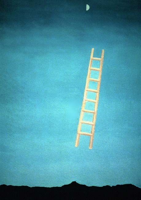Georgia O'Keeffe Ladder to the Moon