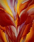 Georgia O'Keeffe Red Canna 1923 painting