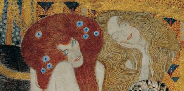 Gustav Klimt Beethoven Frieze (detail)