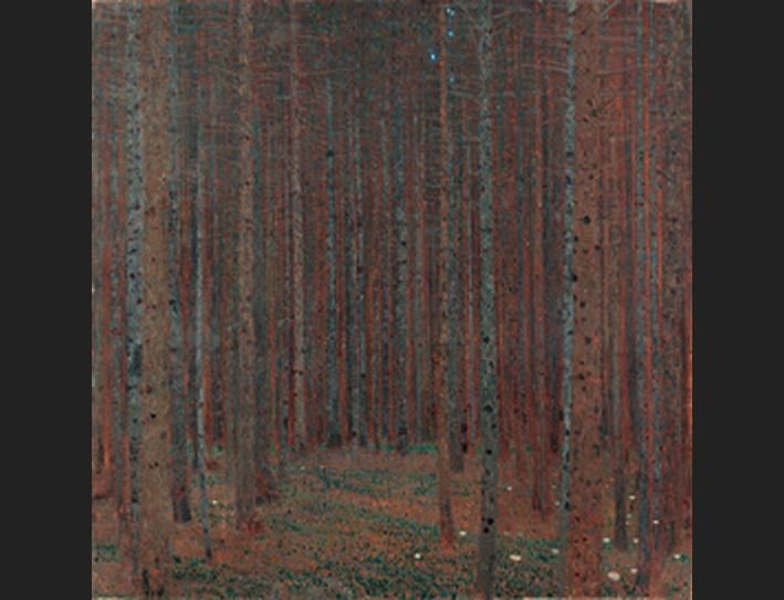 Gustav Klimt Fir Forest