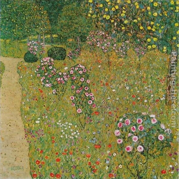 Gustav Klimt Orchard with Roses
