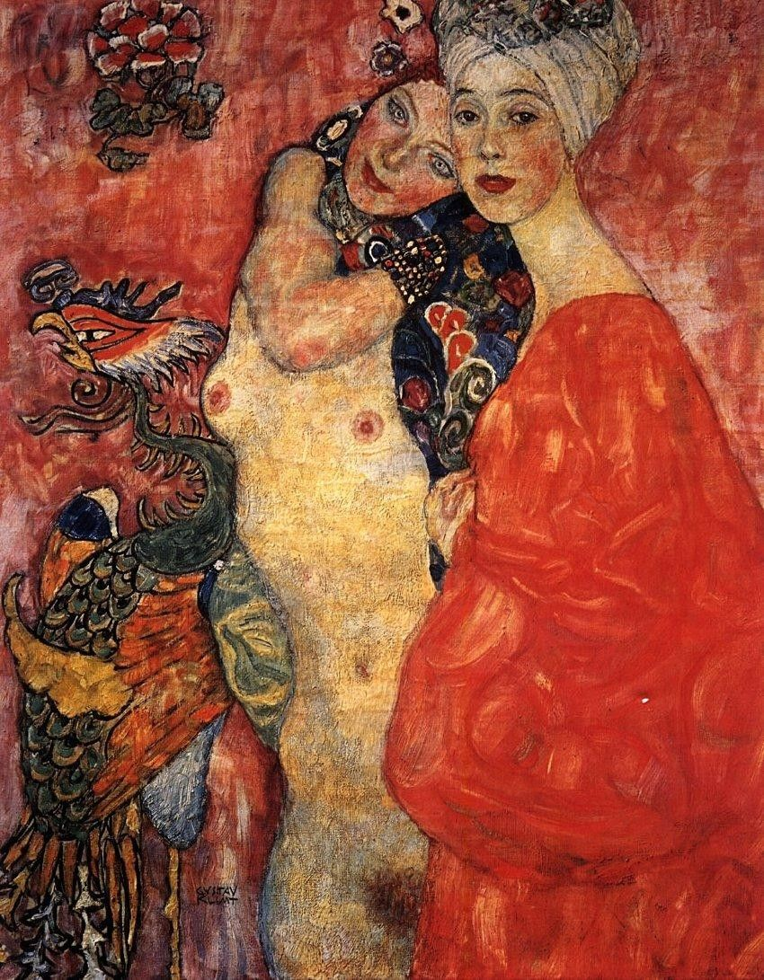 Gustav Klimt Women Friends