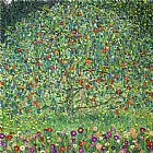 Floral paintings - Apple Tree I by Gustav Klimt