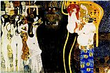 Gustav Klimt Entirety of Beethoven Frieze left5 painting