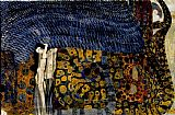 Gustav Klimt Entirety of Beethoven Frieze left6 painting