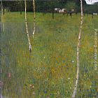 Gustav Klimt Farmhouse with Birch Trees painting