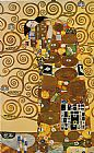 Gustav Klimt Fulfillment,Stoclet Frieze painting
