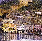 from the lake no. 1 Canvas Prints - Malcesine on Lake Garda