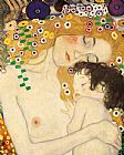 Nude paintings - Mother and Child detail from The Three Ages of Woman by Gustav Klimt