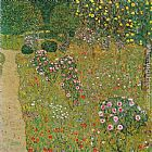 Gustav Klimt Orchard with Roses painting