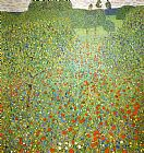 Gustav Klimt Poppy Field painting