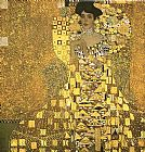 Gustav Klimt Portrait of Adele Bloch (gold foil) painting