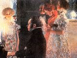 Gustav Klimt Schubert at the Piano painting