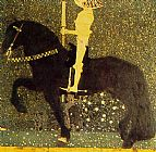 Gustav Klimt The Gold Cavalier painting